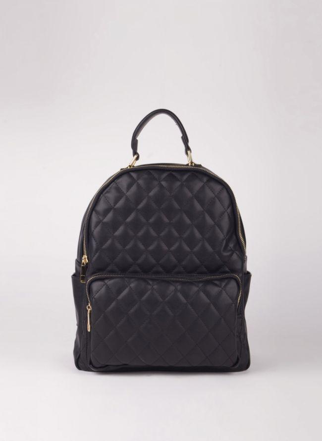 Backpack καπιτονέ - Μαύρο
