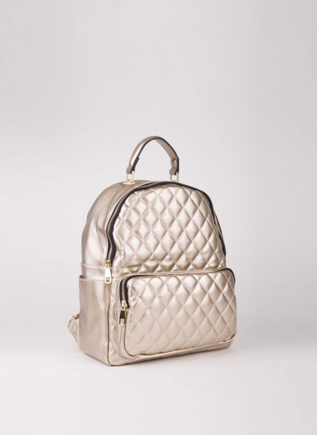 Backpack καπιτονέ - Χρυσό