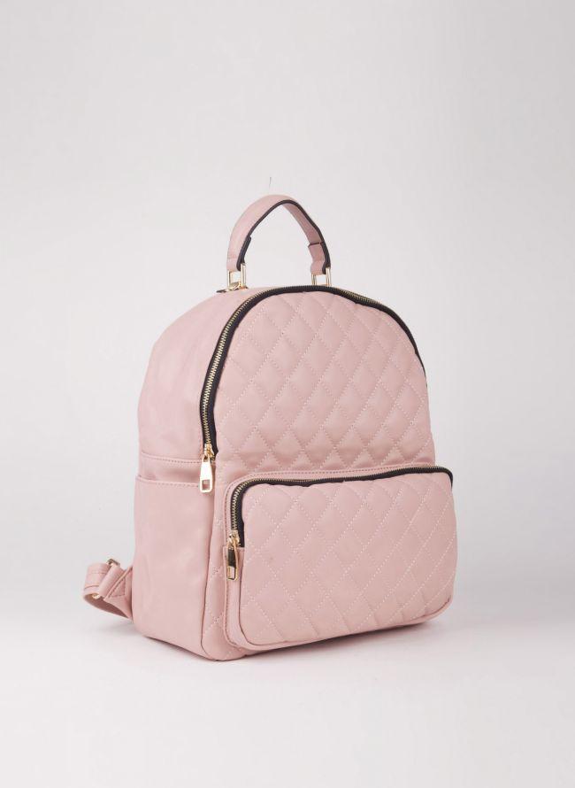 Backpack καπιτονέ - Ροζ