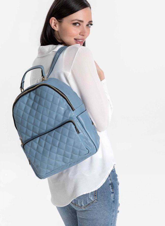 Backpack καπιτονέ - Γαλάζιο
