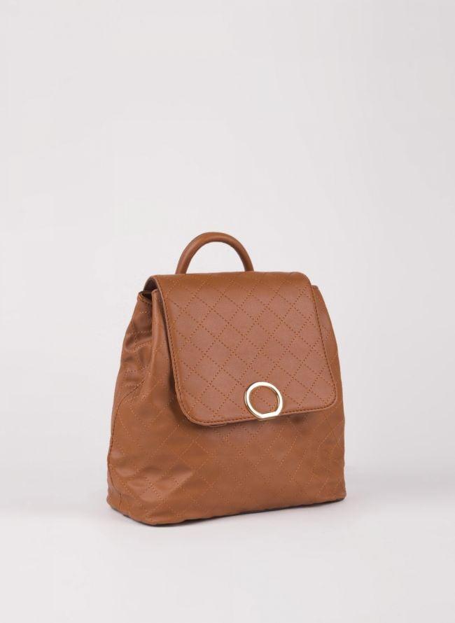 Backpack καπιτονέ με καπάκι - Ταμπά