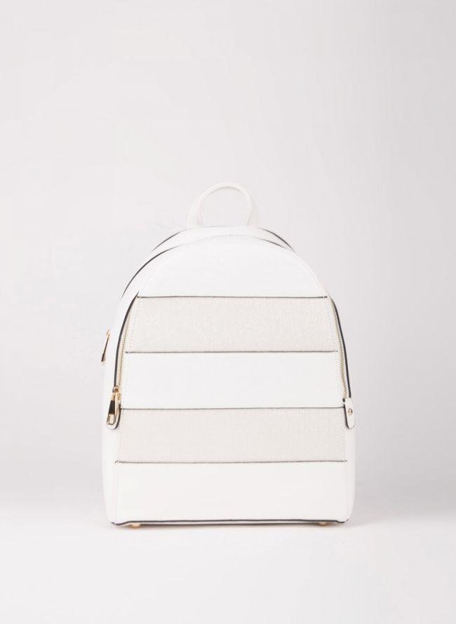 Backpack με διπλή θήκη - Λευκό