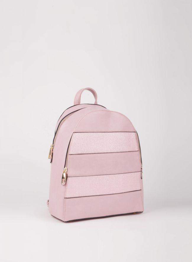 Backpack με διπλή θήκη - Ροζ