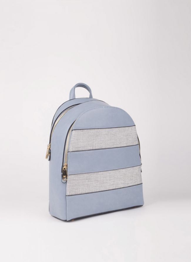 Backpack με διπλή θήκη - Γαλάζιο