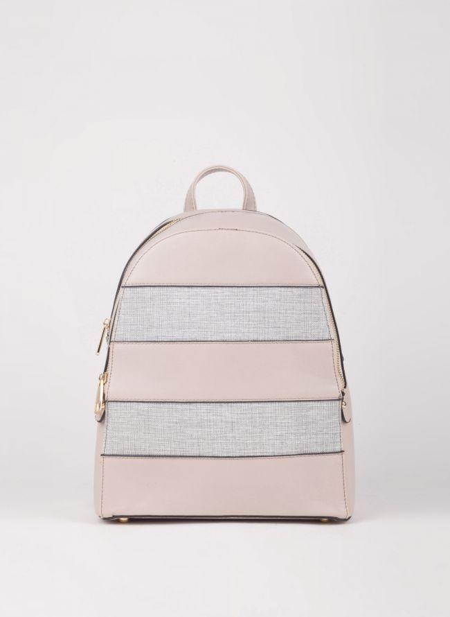 Backpack με διπλή θήκη - Γκρι