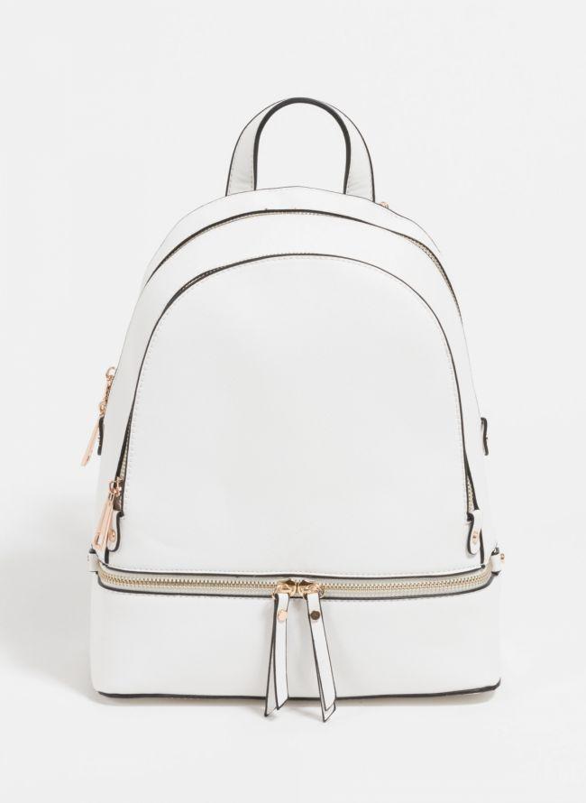 Backpack με αναγλυφο print - Λευκό