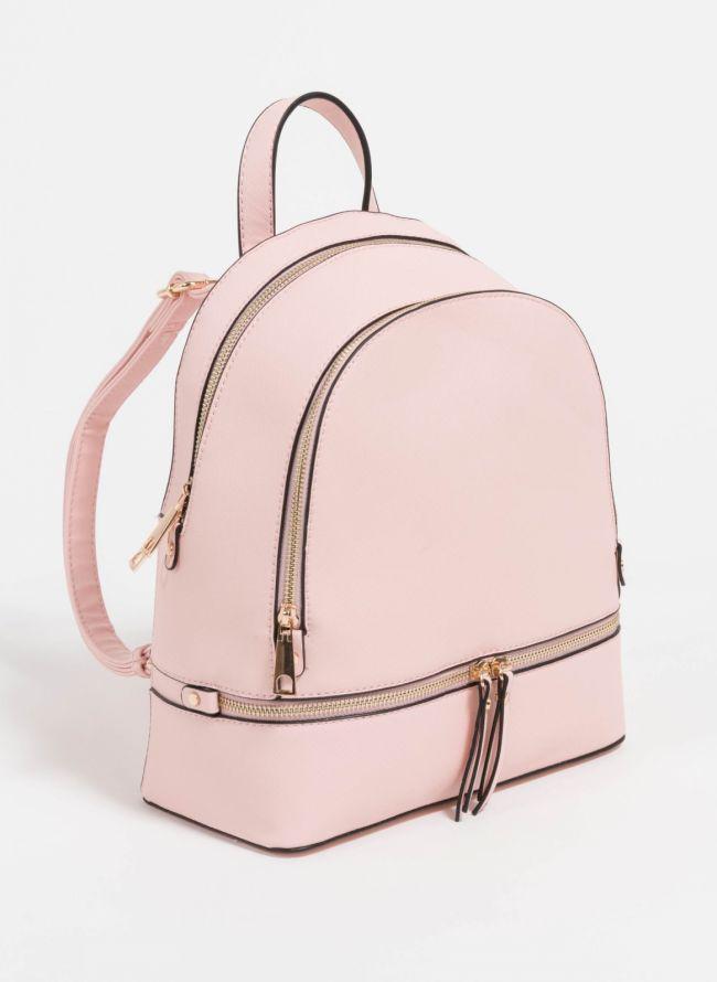 Backpack με αναγλυφο print - Ροζ