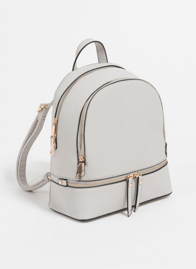 Backpack με αναγλυφο print - Γκρι
