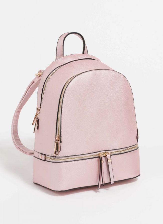 Backpack με αναγλυφο print - Caramel