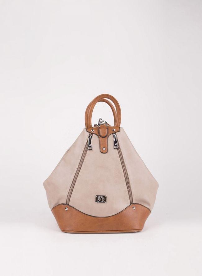 Backpack με εξωτερικά φερμουάρ - Πούρο