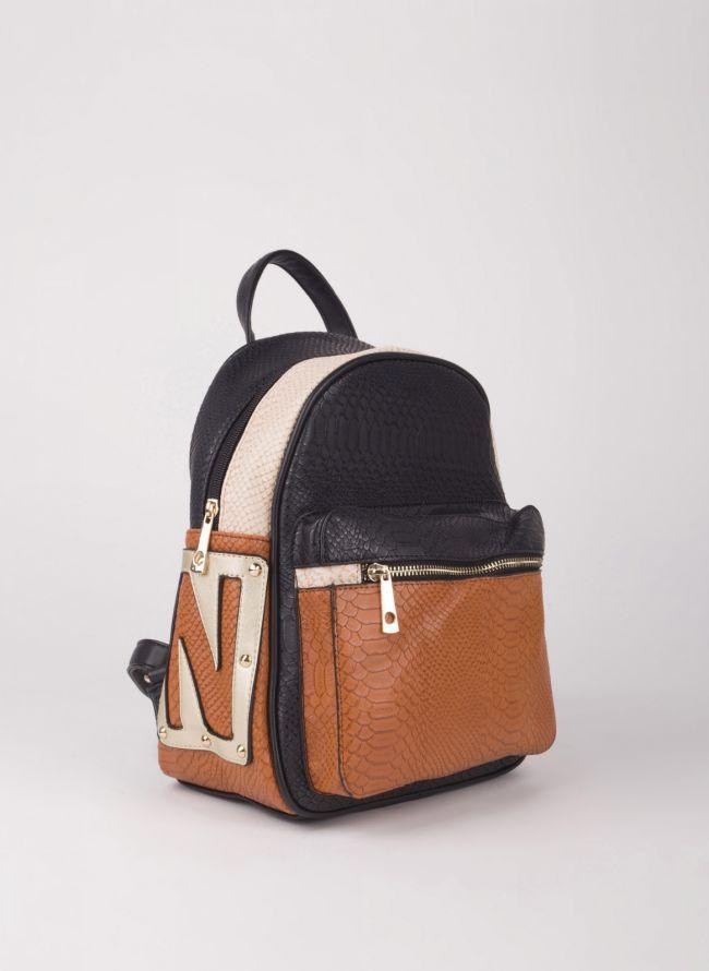 Backpack με εξωτερική θήκη - Μαύρο