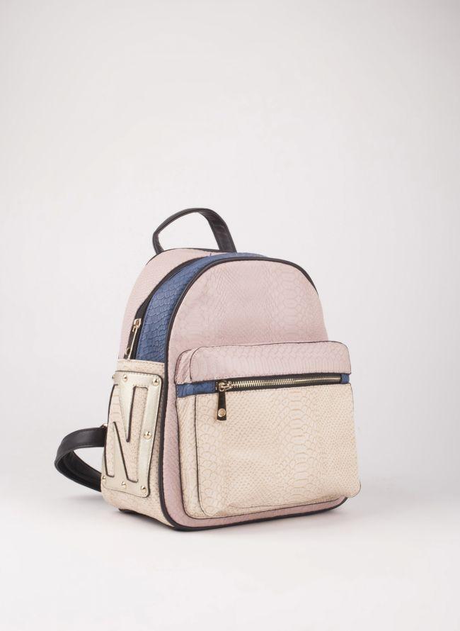 Backpack με εξωτερική θήκη - Ροζ