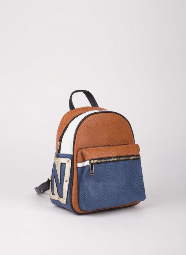 Backpack με εξωτερική θήκη - Καφέ