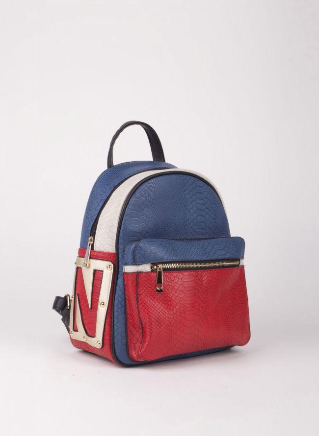Backpack με εξωτερική θήκη - Μπλε