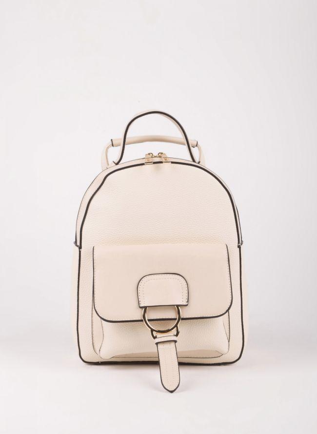 Backpack με εξωτερική θήκη - Μπεζ