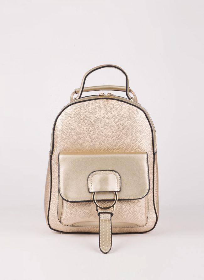 Backpack με εξωτερική θήκη - Χρυσό
