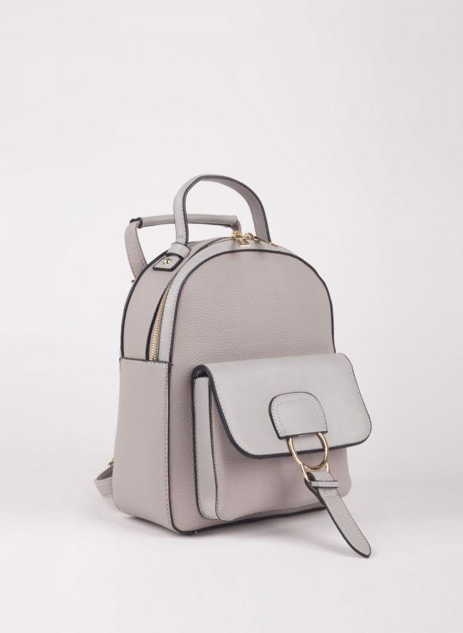 Backpack με εξωτερική θήκη - Γκρι