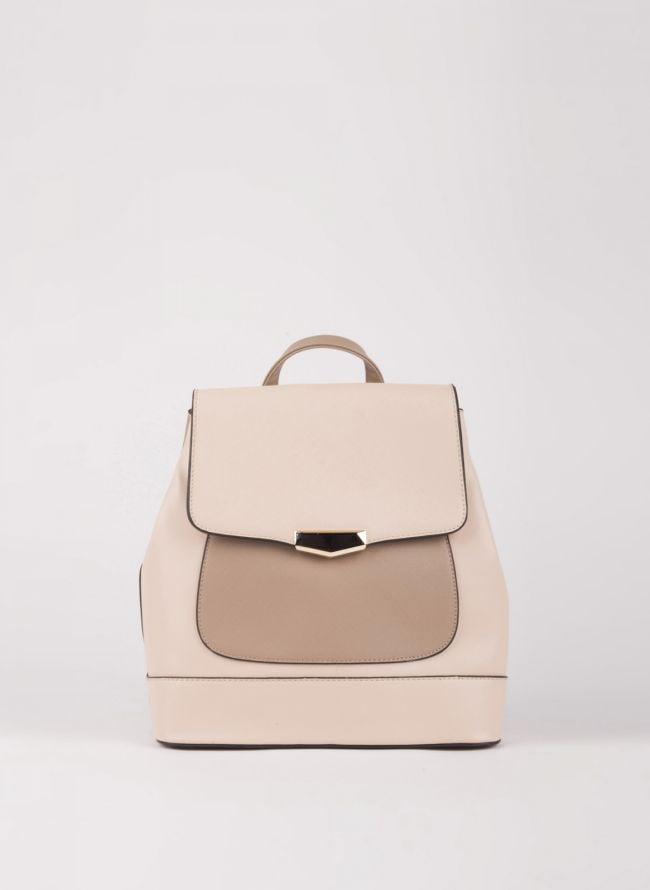 Backpack με καπάκι - Μπεζ