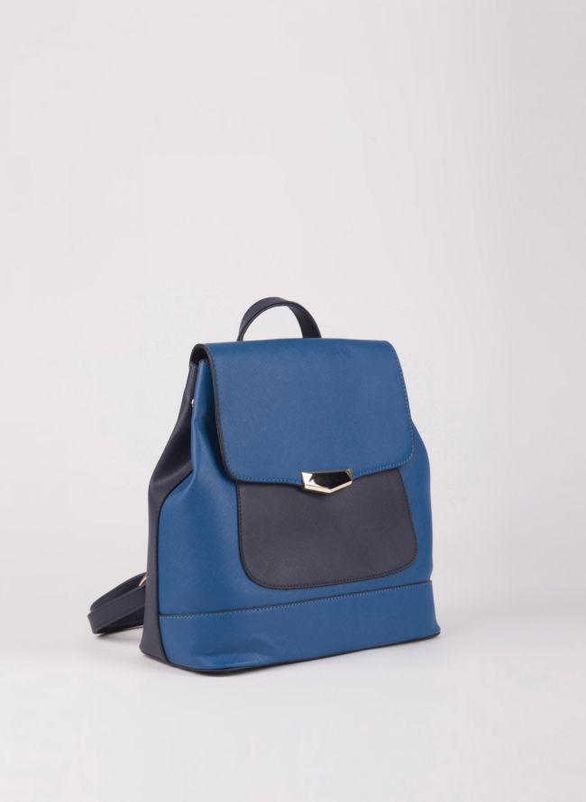 Backpack με καπάκι - Μπλε