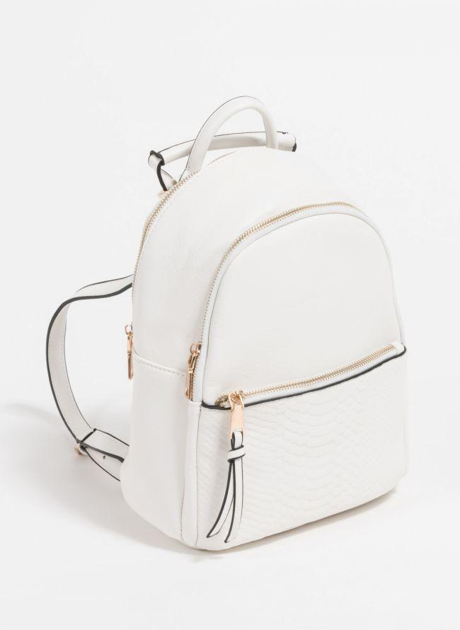 Backpack με snakeprint - Λευκό