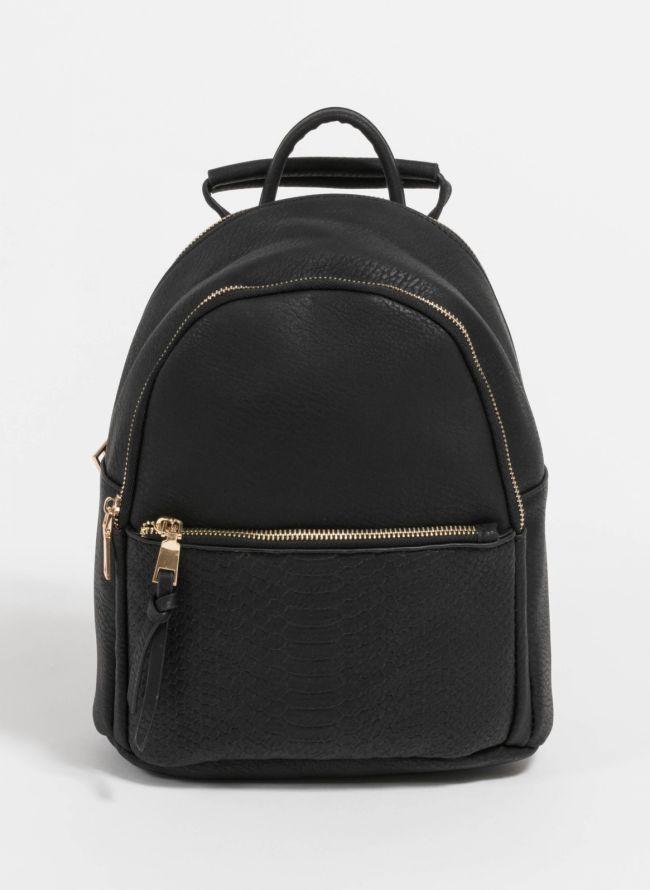 Backpack με snakeprint - Μαύρο