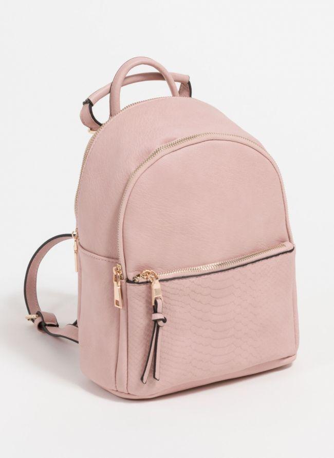 Backpack με snakeprint - Ροζ