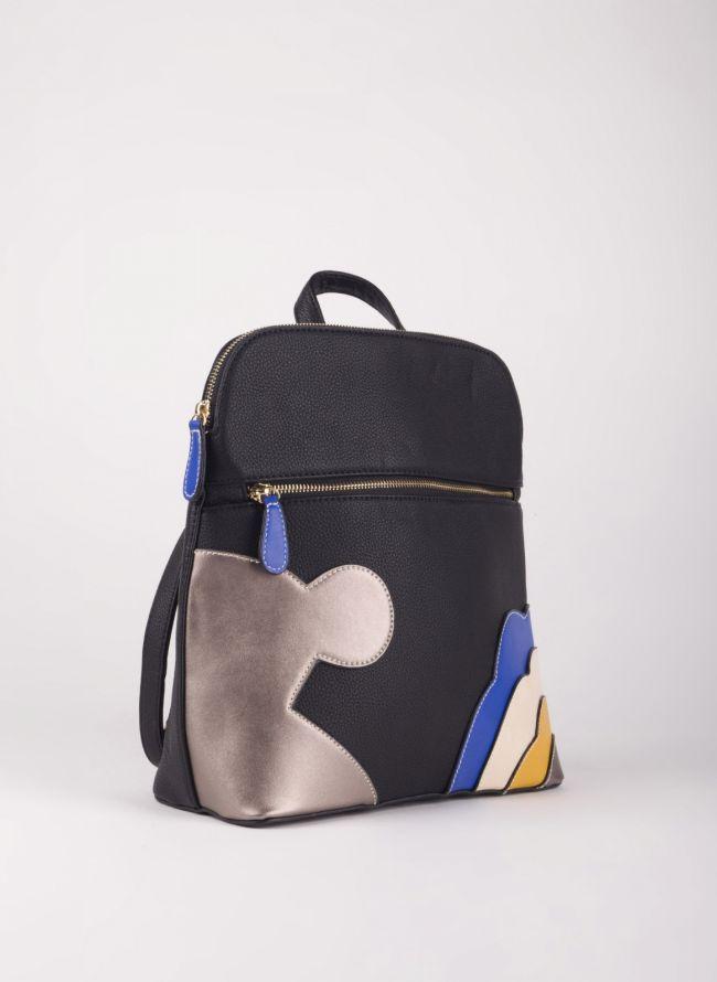 Backpack με σχέδιο - Μαύρο