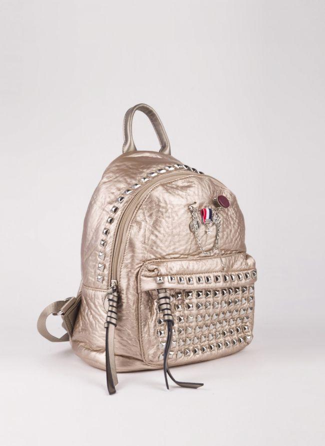 Backpack με τρουκς - Χρυσό