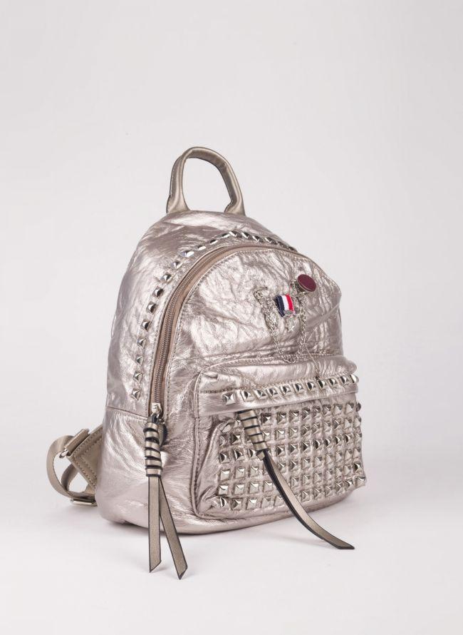 Backpack με τρουκς - Ασημί