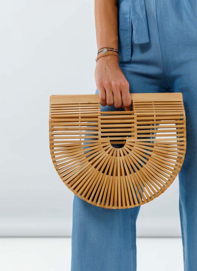 Bamboo clutch bag - Φυσικό