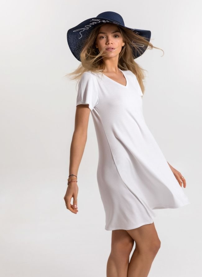 Basic φόρεμα  - Λευκό