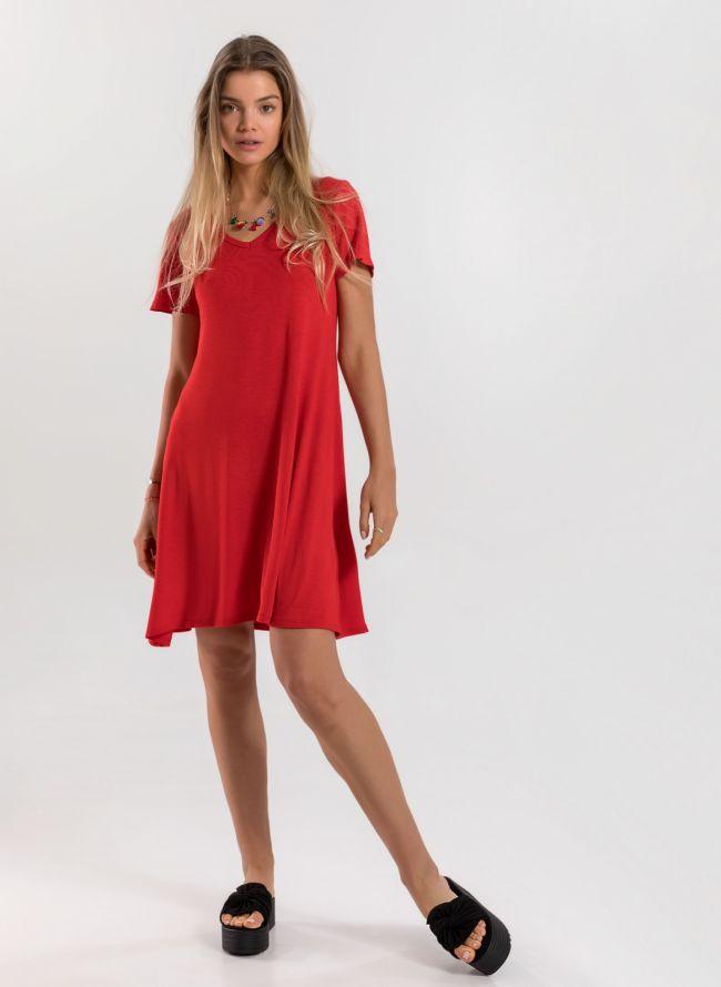 Basic φόρεμα  - Κόκκινο