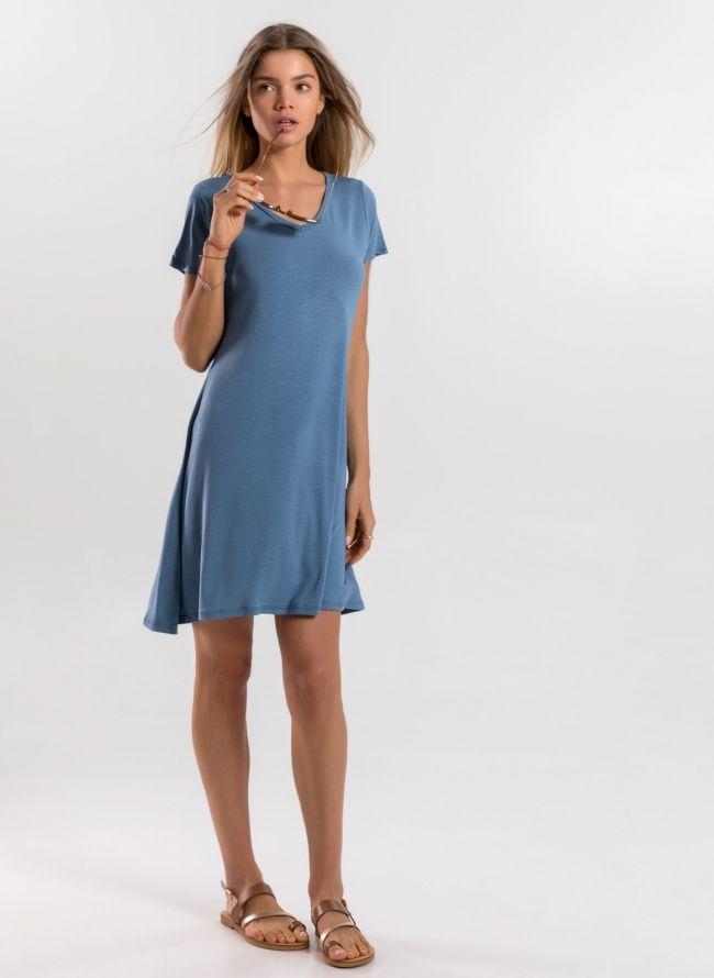 Basic φόρεμα  - Γαλάζιο
