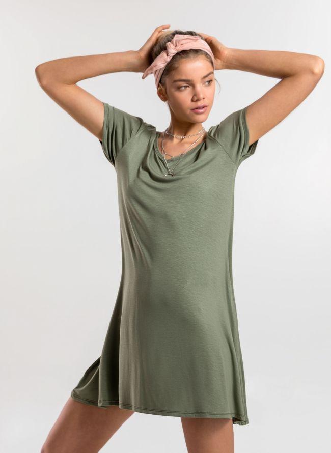 Basic φόρεμα  - Χακί