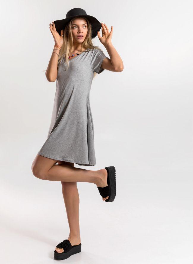 Basic φόρεμα  - Γκρι