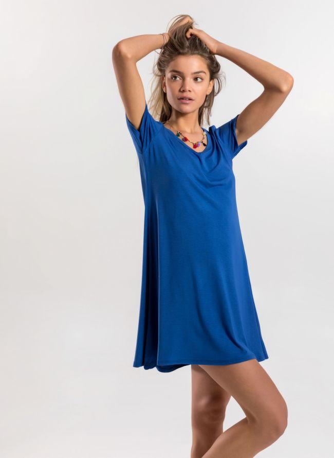 Basic φόρεμα  - Μπλε