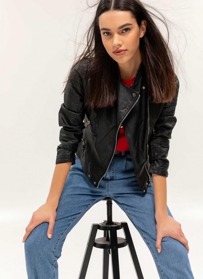 Jean jacket με σκισίματα - Μπλε jean - TheFashionProject 9e8cf11b0c0