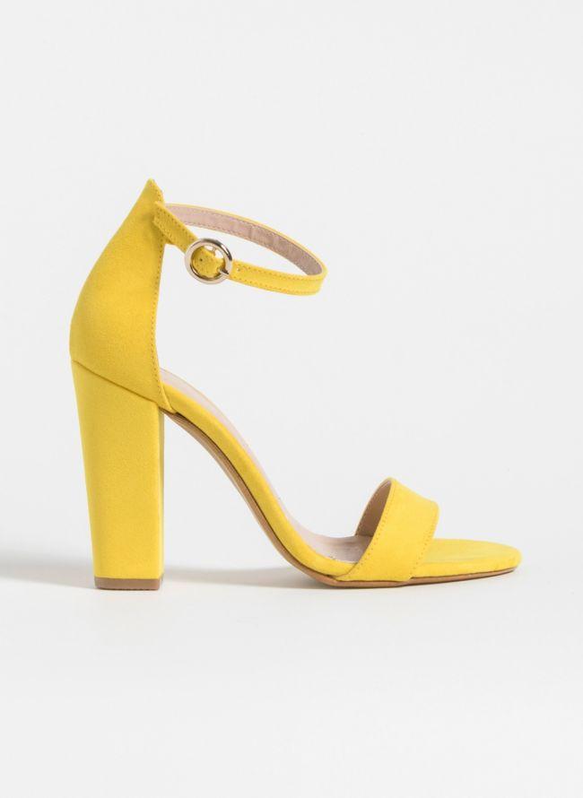 Block heel πέδιλα - Κίτρινο