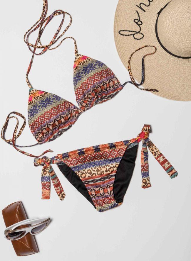 Boho σετ bikini με τριγωνάκι - Multi