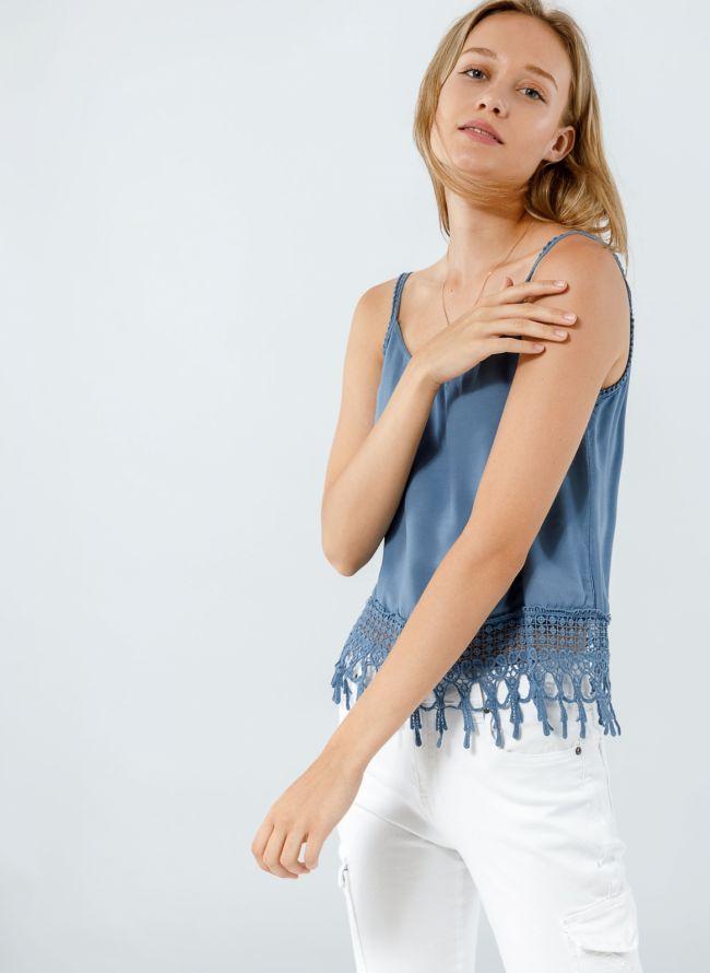 Boho top με crochet λεπτομέρεια - Ραφ