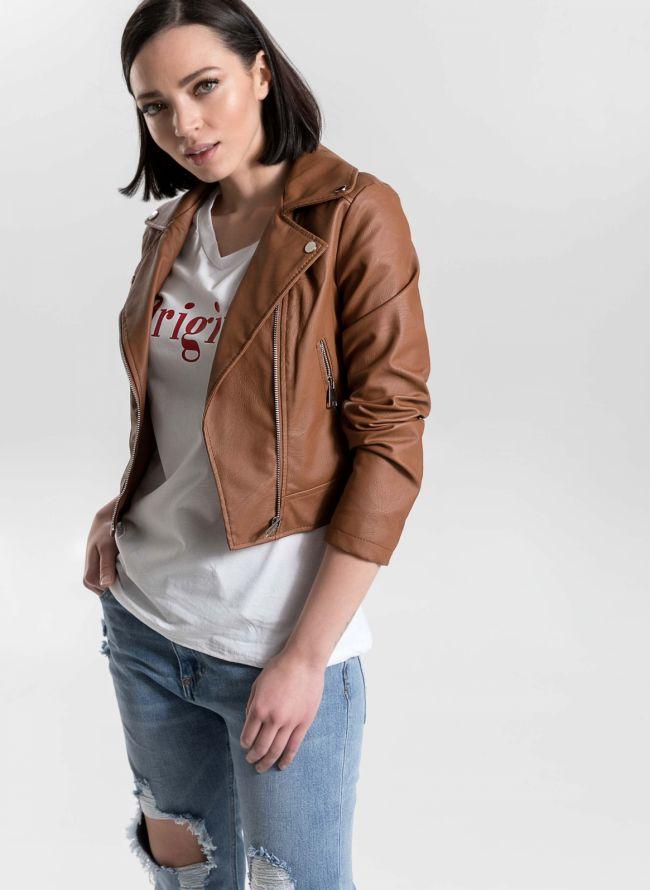 Cropped biker jacket - Ταμπά