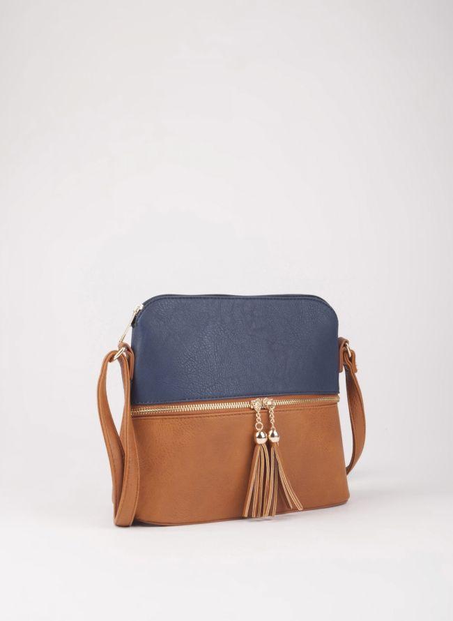 Δίχρωμη χιαστί τσάντα - Ταμπά