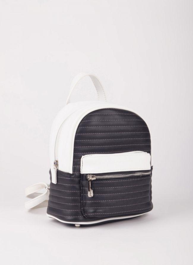 Δίχρωμο mini backpack David Jones - Μαύρο
