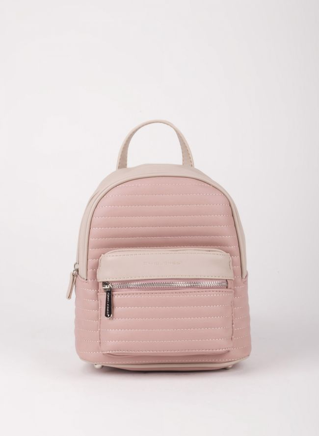 Δίχρωμο mini backpack David Jones - Ροζ