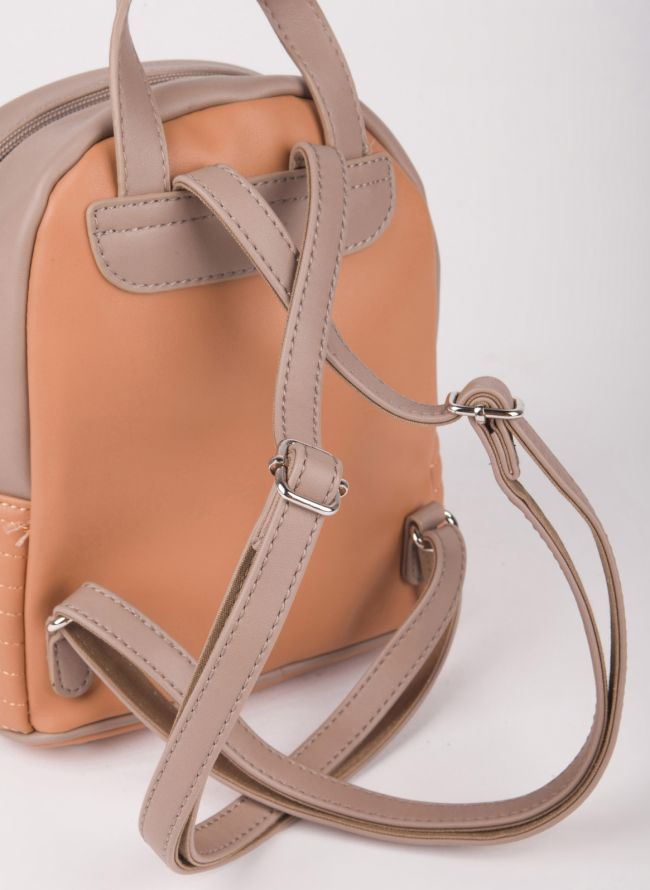 Δίχρωμο mini backpack David Jones - Caramel