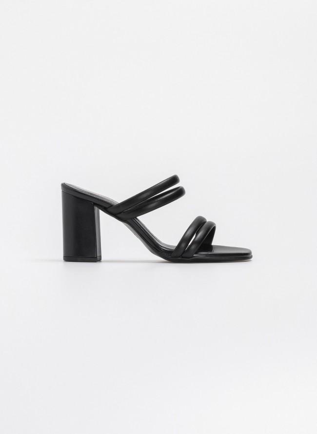 23096af50c9 Estil block heel πέδιλα με διπλά λουράκια - Μαύρο