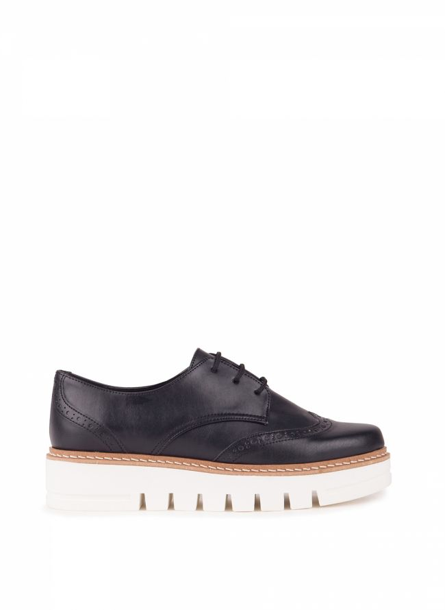 Estil flatform oxfords - Μαύρο