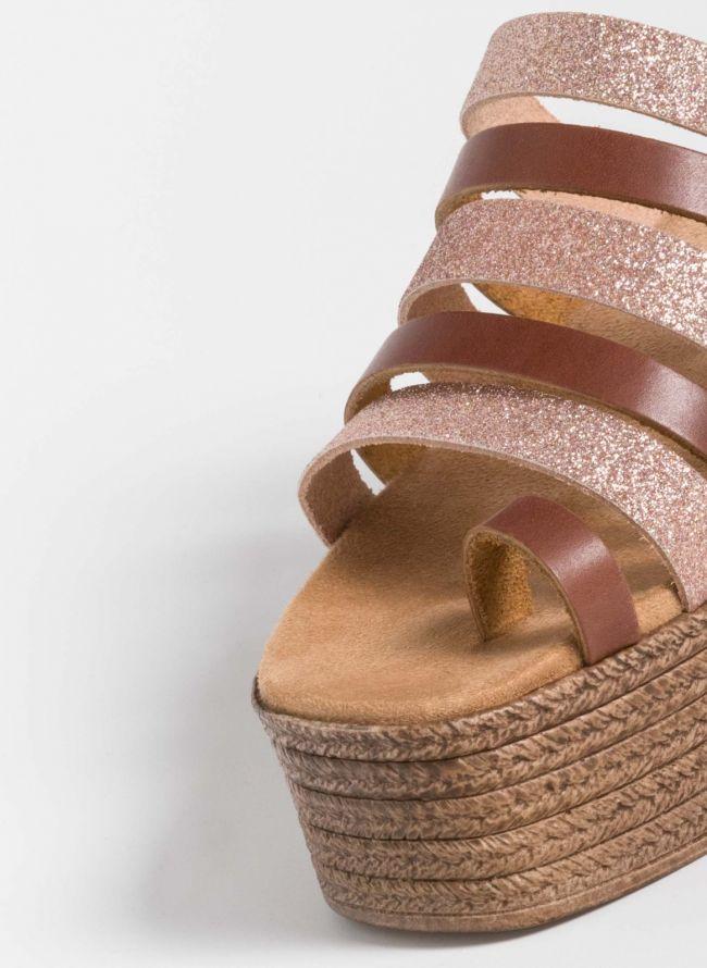 Estil flatforms με glitter λεπτομέρειες - Ταμπά