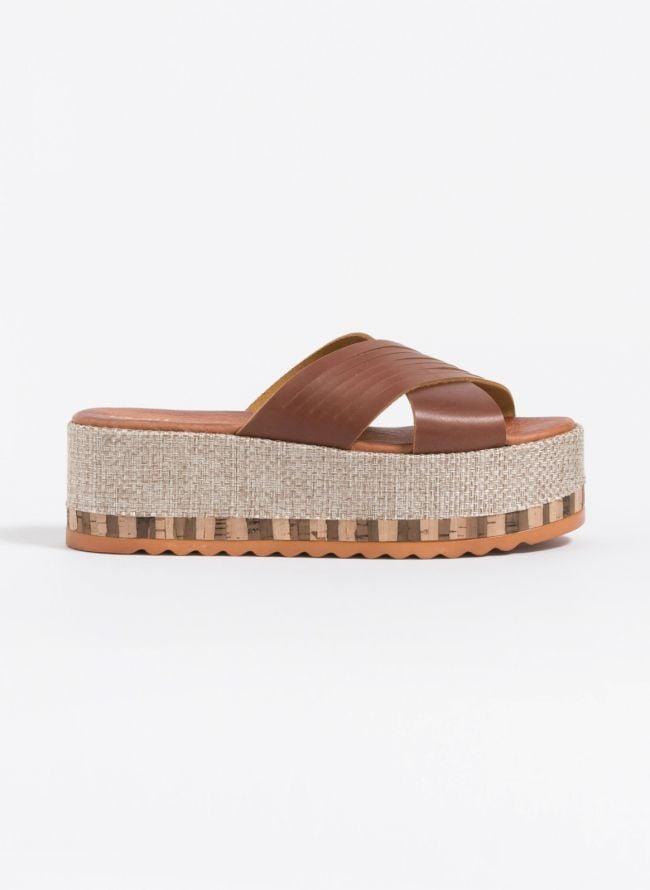Estil flatforms με χιαστί φάσες - Ταμπά