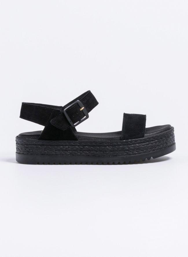 Estil καστόρινα flatforms  - Μαύρο
